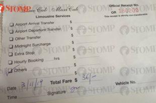 Maxi cab receipt