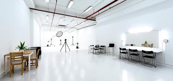 interior design of photography studio
