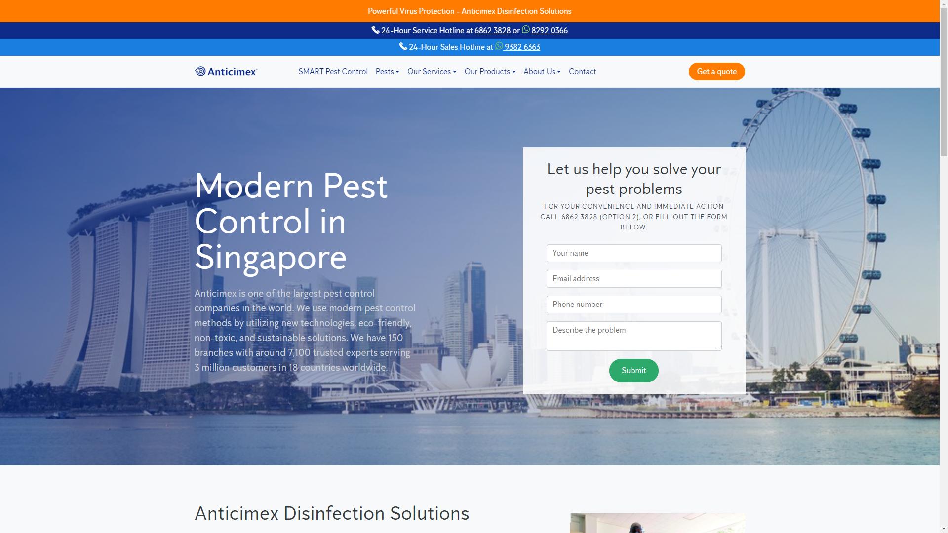 Anticimex Singapore pest control companies in Singapore