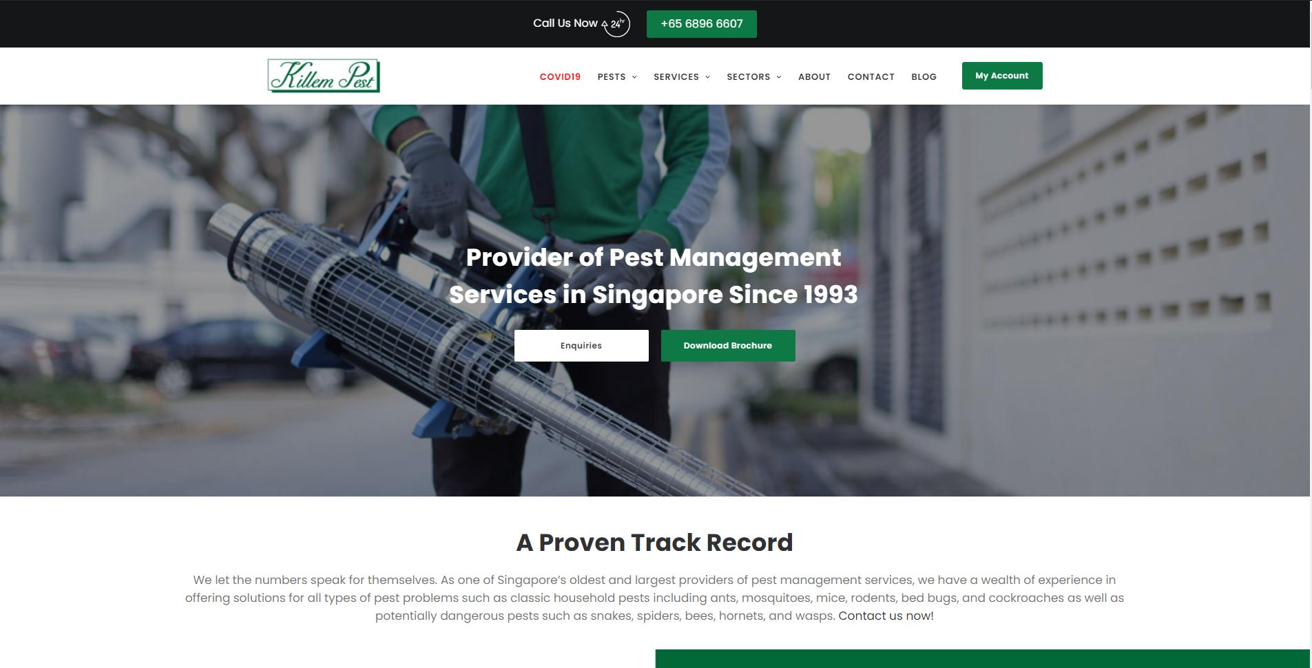 Killem Pest pest control companies in Singapore