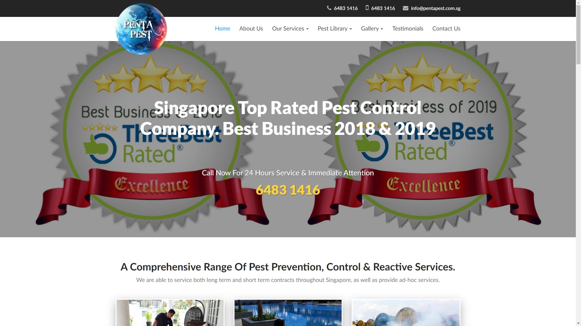 Penta Pest pest control companies in Singapore