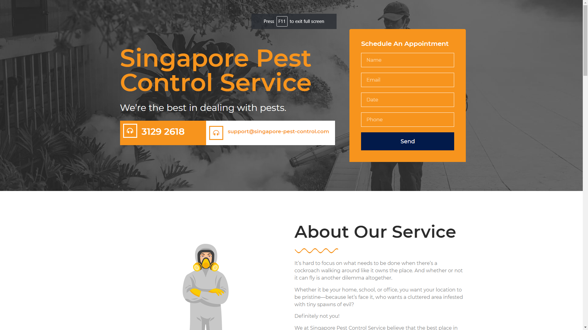 Singapore Pest Control Service pest control companies in Singapore