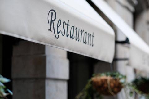Restaurant Sign in Barcelona
