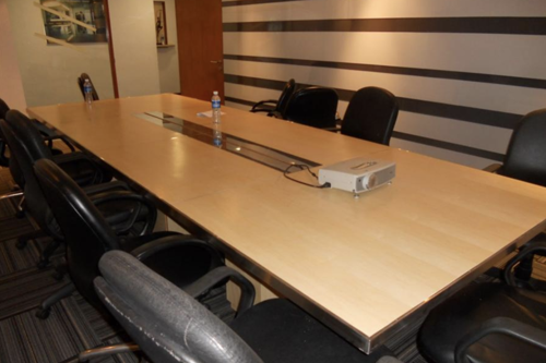 custom carpentry for office meeting room table