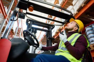 warehouse mover in forklift