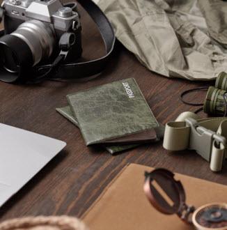 passports on table